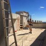 Munich rooftop constructionsite documentation summer