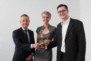 Prof. Klaus J. Lutz, Marion Danneboom, Nikolai A. Behr Award of Excellence