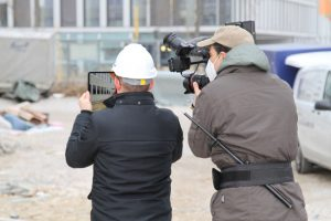 Behind the scenes bei unserem Dreh für Vuframe